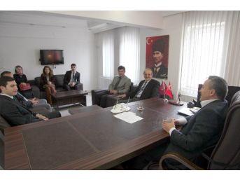 Stajer Öğretmenlerden Başkan Tutal'a Ziyaret