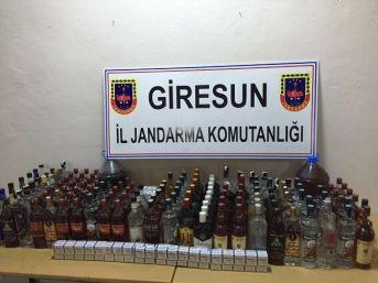 Giresun'da Kaçak İçki Ve Sigara Operasyonu