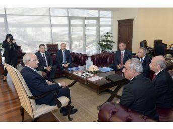 Chp Genel Başkanı Kılıçdaroğlu, Dsp Genel Başkanı Aksakal 'ı Kabul Etti