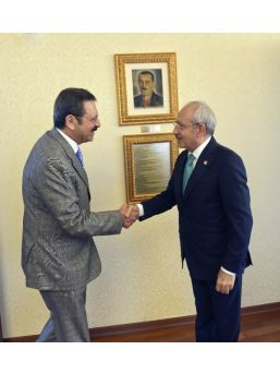 Chp Genel Başkanı Kılıçdaroğlu, Hisarcıklıoğlu'nu Kabul Etti