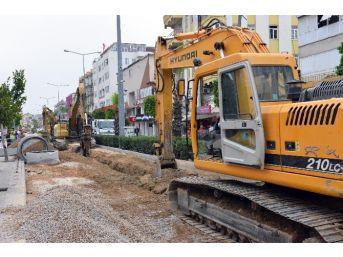 Manavgat'a 38 Bin 500 Metre Kanalizasyon Hattı
