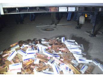 Mersin'de 58 Bin Paket Kaçak Sigara Ele Geçirildi