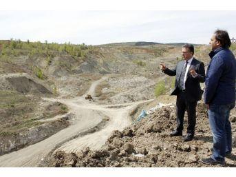 Yeni Çeltek Kömür İşletmeleri Genel Müdürü Coşkun, Ekopark Projesi Alanını İnceledi
