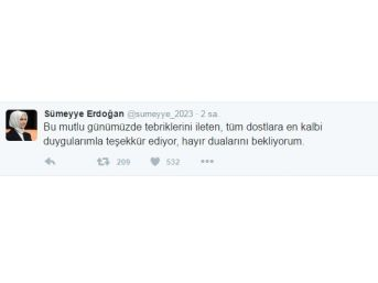 Sümeyye Erdoğan Ve Selçuk Bayraktar'dan Twitter Paylaşımı
