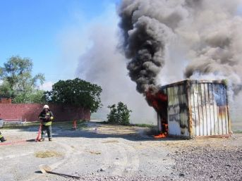 Alaplı'da Gerçeğini Aratmayan Yangın Tatbikatı