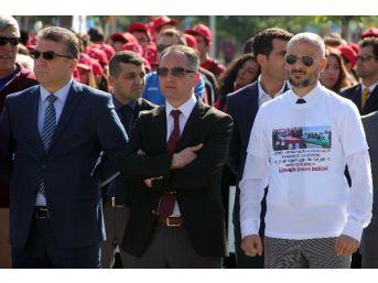 Bbp'li Eski Başkandan Törenlerde Tişörtlü Terör Protestosu