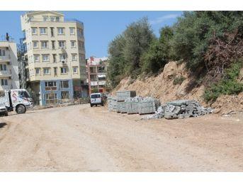 Didim'de Atıl Durumdaki Oteller Bölgesinde Sokaklar Yenileniyor