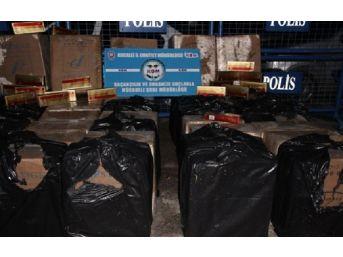 Kocaeli'de 381 Bin Paket Kaçak Sigara Ele Geçirildi
