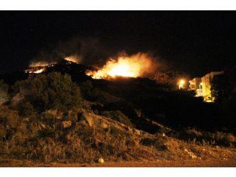 Bodrum'daki Yangın Mahalle Sakinlerini Korkuttu