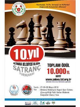 Satranç Ustaları Altınova'da Buluşuyor