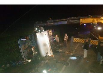 Yozgat'ta Yolcu Otobüsü Devrildi: 3 Ölü,30 Yaralı