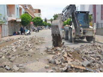 Kahta Belediyesi Beton Asfalt Çalışması Başlattı