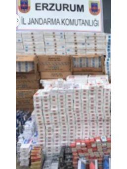 Aşkale'de 30 Bin Paket Kaçak Sigara Ele Geçirildi