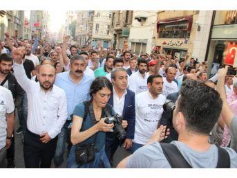 İstiklal Caddesi'nde Gezi Parkı Olaylarının 3. Yıl Dönümü Protestosu