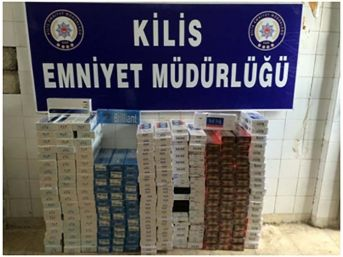 Kilis'te 5 Bin Paket Kaçak Sigara Ele Geçirildi