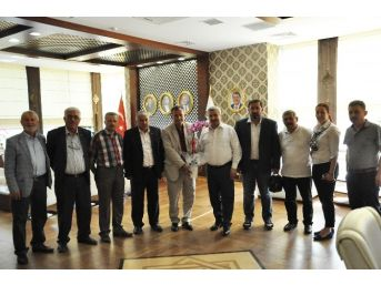 Muhtarlardan Başkan Baran'a Destek Ziyareti