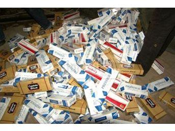 Midyat'ta 125 Bin Paket Kaçak Sigara Ele Geçirildi