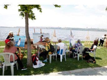 Sanatseverler Göl Kenarında Buluştu