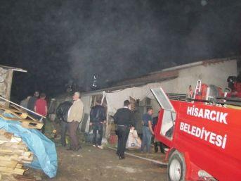 Hisarcık'ta Yangın