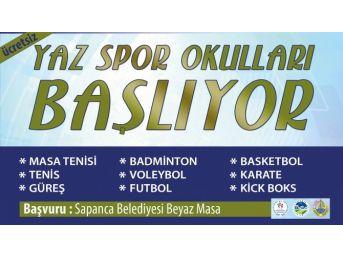 Sapanca Belediyesi Yaz Spor Okulları Start Alıyor