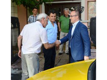 Turan, Taksici Esnafını Ziyaret Etti