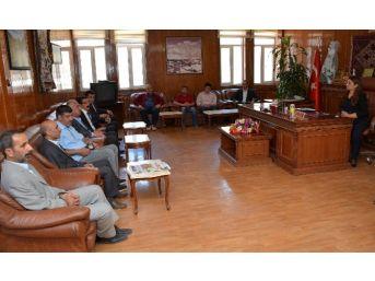 Kesk Genel Başkanı Özgen Belediyeyi Ziyaret Etti