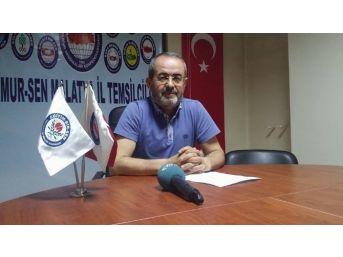 Eğitim-bir-sen Malatya Şube Başkanı Kerem Yıldırım: