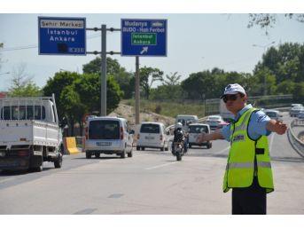 Bursa'da Trafik Çilesi Başladı