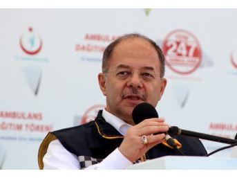 Bakan Akdağ, Erzurum'da Ambulans Dağıtım Törenine Katıldı