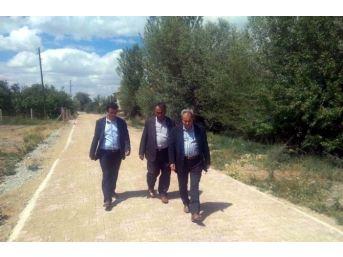 Akşehir'de Kilitli Taş Çalışmaları Sürüyor