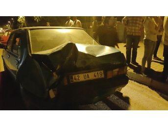 Akşehir'de Maddi Hasarlı Trafik Kazası