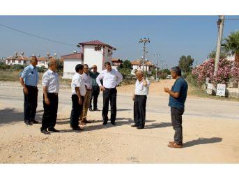 Kum Mahallesi'nde Asfaltlama Yapılacak Yollar Tespit Edildi