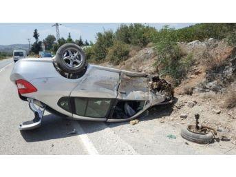 Milas'taki Trafik Kazasında Sürücü Ağır Yaralandı