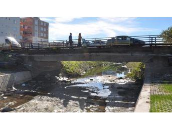 Dsi Çerkezköy'de Yıkılacak Köprüdeki İncelemelerini Tamamladı
