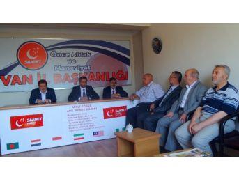 Saadet Partisi Yüksekova Raporunu Açıkladı