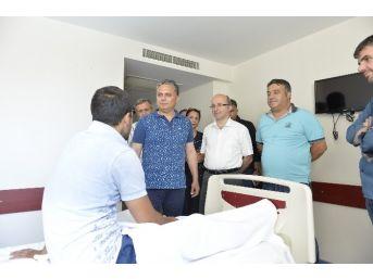 Başkan Uysal'dan Hastane Ziyareti