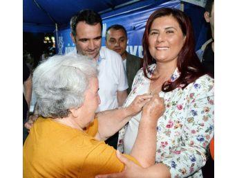 Sökelilerden Başkan Çerçioğlu'na Nazar Boncuğu