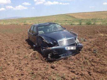 Otomobil Takla Attı : 1 Yaralı