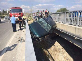 Köprü Boşluğunda Kalan Sürücünün Şanslı Kurtuluşu