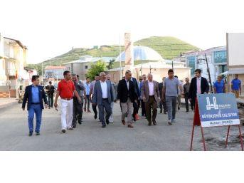 Başkan Sekmen Çat'ta Büyükşehir'in Çalışmalarını İnceledi