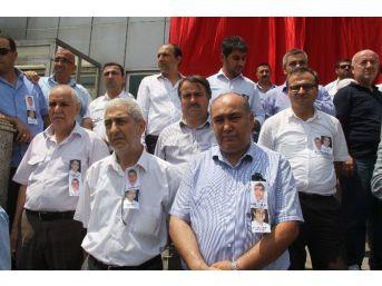 Patlamada Hayatını Kaybeden Taksiciler İçin Havalimanında Tören