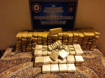 Malatya'da İran Plakalı Araçta Uyuşturucu Ele Geçirildi