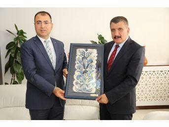 Vali Toprak, Başkan Gürkan'ı Ziyaret Etti