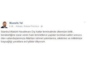 Tekirdağlı Vekiller Atatürk Havalimanı'ndaki Saldırıyı Kınadı