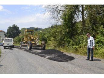 Alaplı'da Köy Yollarına Asfalt Çalışması