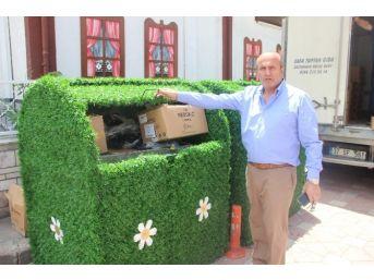 Taşköprü'de Çöp Konteynırları Çiçek Açtı