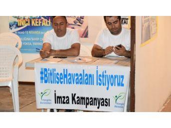 Bitlis Halkı Havaalanı İstiyor