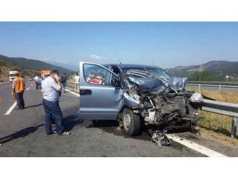 Düzce Tem'de Kaza: 2 Yaralı
