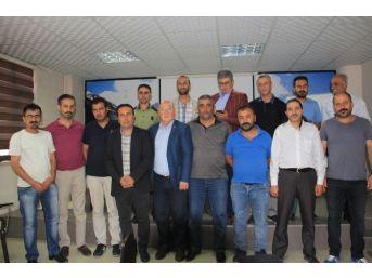 Türkiye Gazeteciler Konfederasyonu Heyeti Hakkari'de