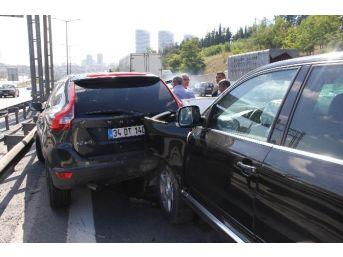 (özel Haber) Tem Otoyolu'nda 5 Araç Birbirine Girdi, Edirne İstikametinde Trafik Felç